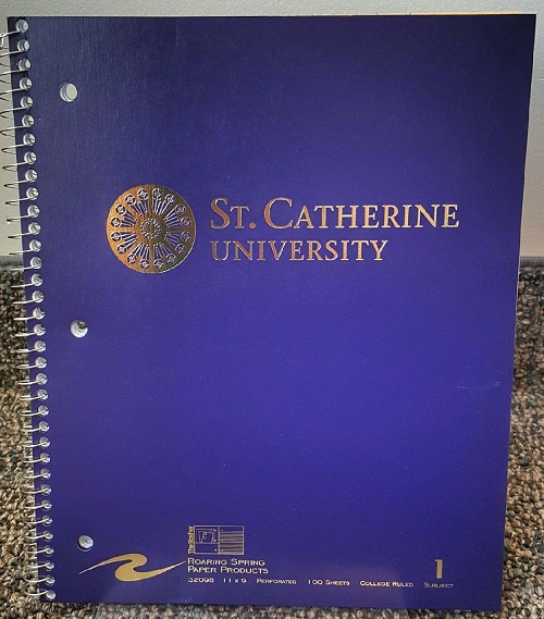 Image For St. Kate's notebook (2 colors)