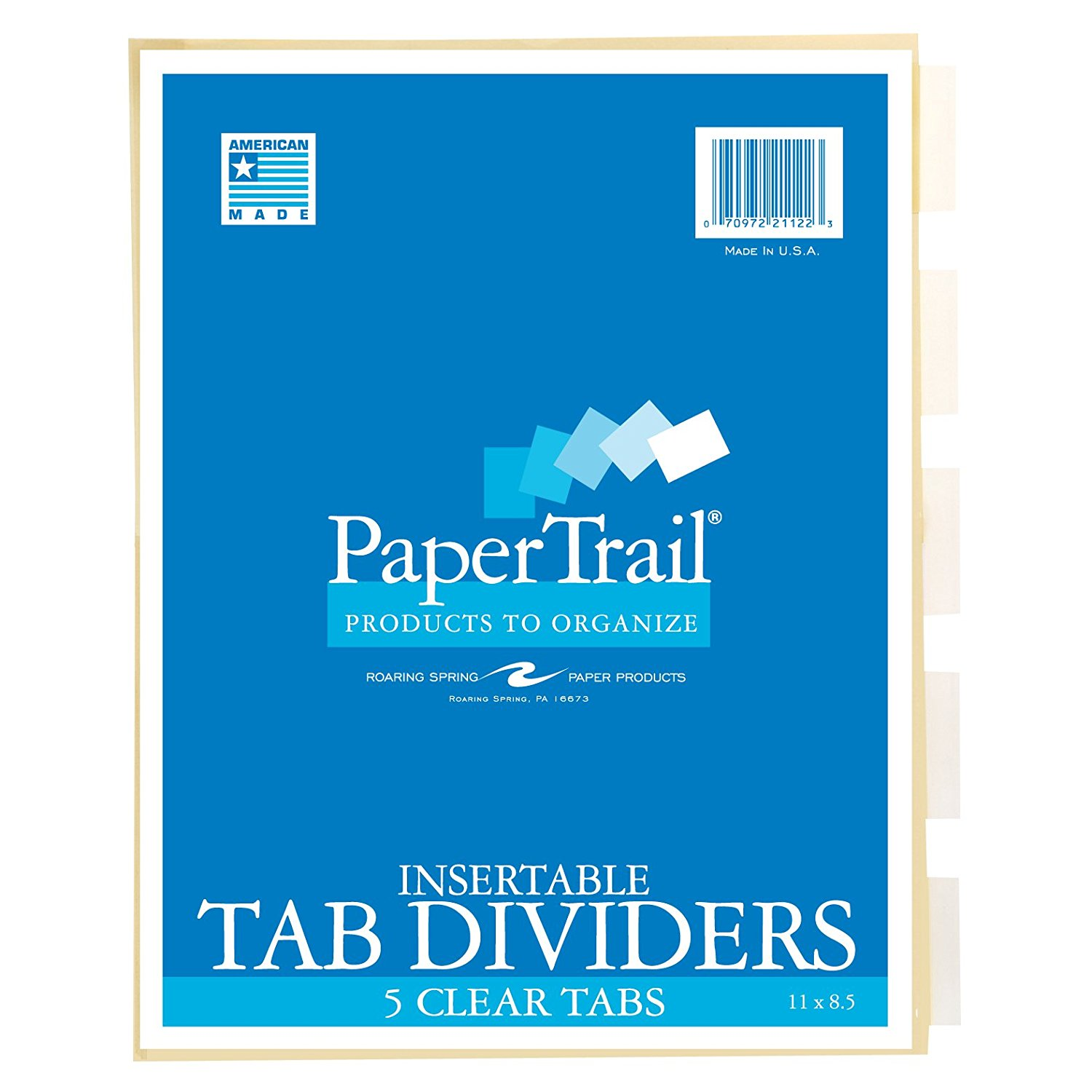 Image For Tab dividers- 5 tabs