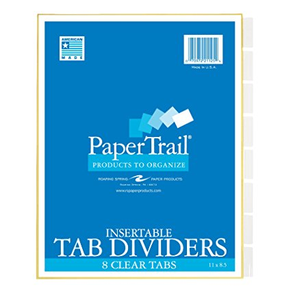 Image For Tab dividers- 8 tabs