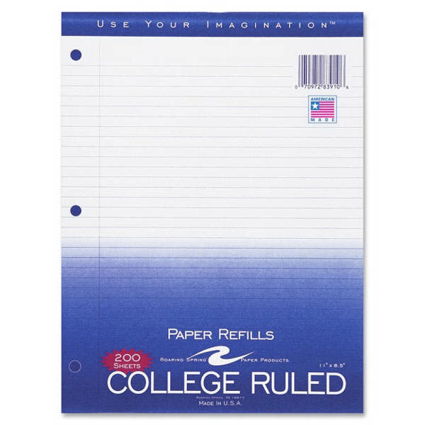 Image For College ruled paper