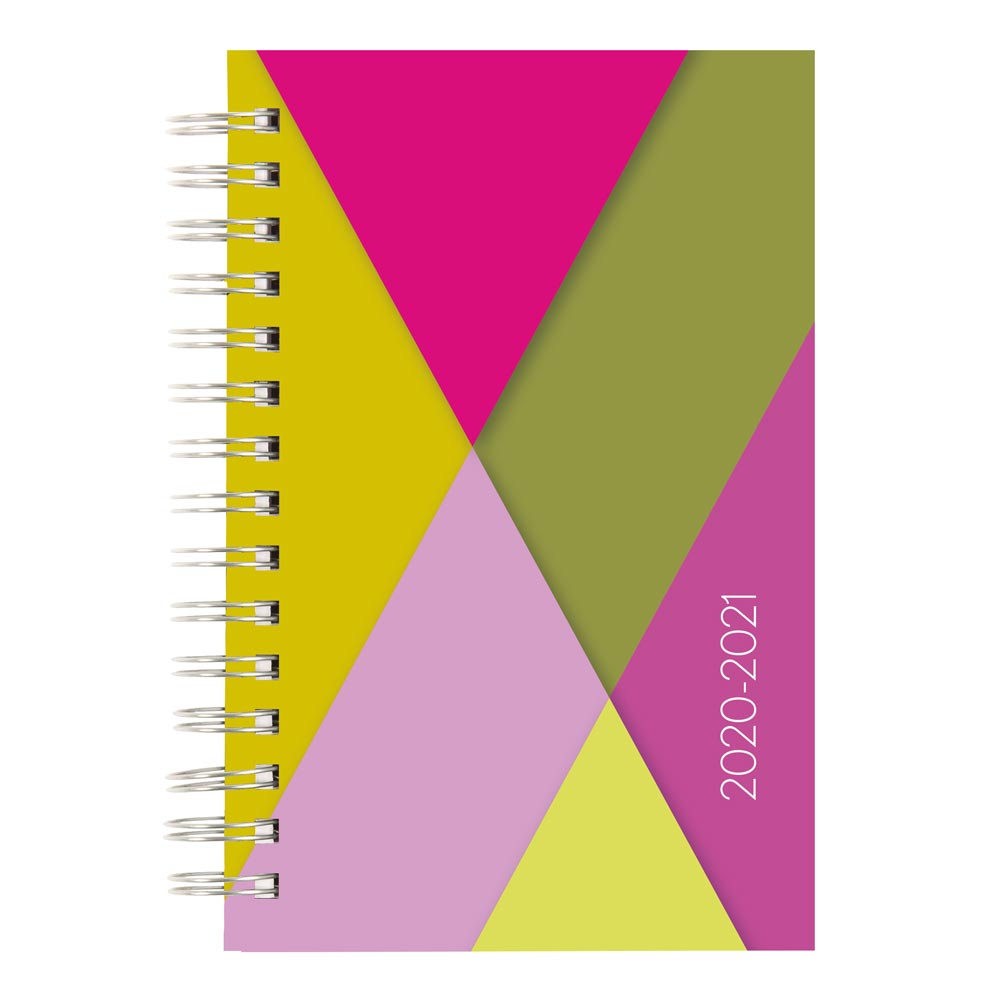 "Image For AY 2020-21 GEOMETRIC 8""x 5"" WEEKLY PLANNER"