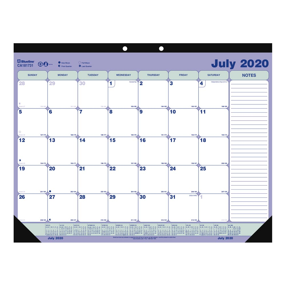 Image For AY 20-21 MONTHLY DESK PAD