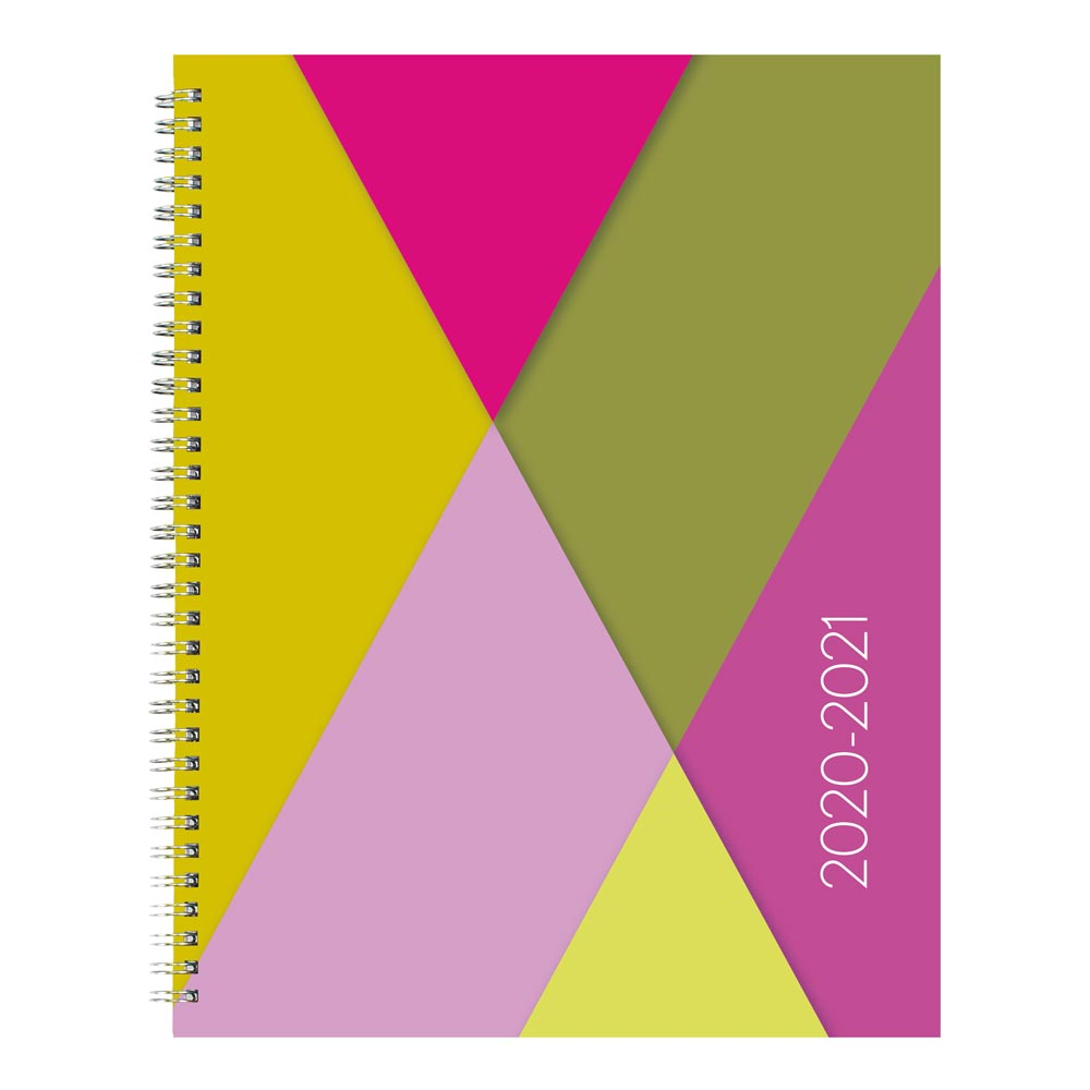 "Image For AY 2020-21 GEOMETRIC 11"" X 8.5"" WEEKLY PLANNER"