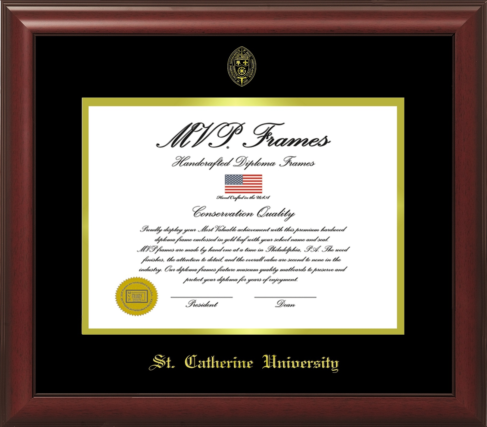 Cover Image For Master's/Doctoral frame- Cherry Satin